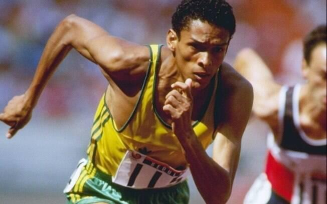 Joaquim Cruz disputa os 800m nas Olimpíadas  de 1988, em Seul