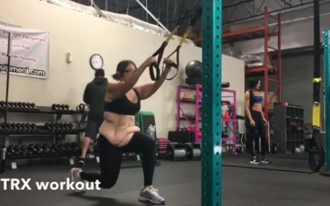 Detalhes da rotina de exercícios de Amanda