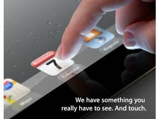 Convite do evento do novo iPad: aparelho é um dos sucessos da Apple