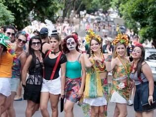 Cidades - Do dia - Carnaval - BH - Bloco Do Peixo to . FOTO: JOAO GODINHO/ O TEMPO 16.2.2015