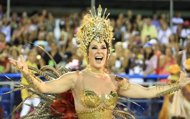 Claudia Raia no desfile da Beija-Flor. Foto: Raphael David/ Riotur