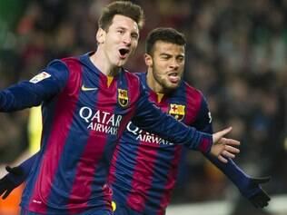 Messi virou o jogo, no início do segundo tempo