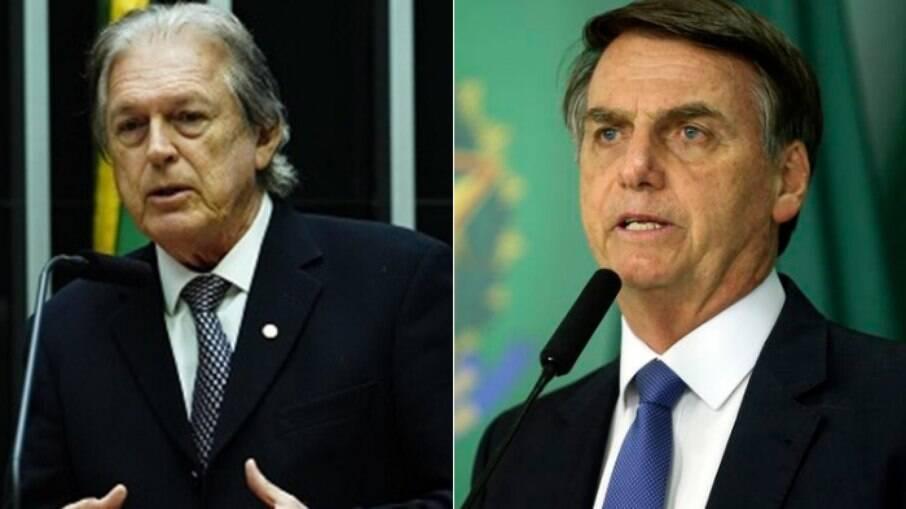 Presidente do Brasil Jair Bolsonaro e presidente do PSL Luciano Bivar