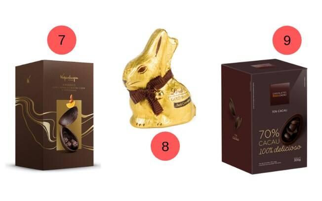 Um chocolate em formato de coelho e mais ovos de Páscoa estão à disposição do consumidor