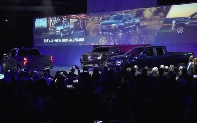 A picape Chevrolet Silverado foi mostrada no Salão de Detroit, na edição de 2018
