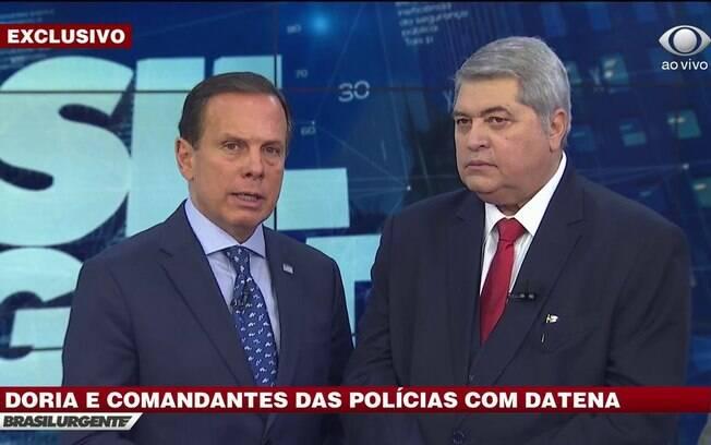 Clima esquenta entre Datena e João Doria