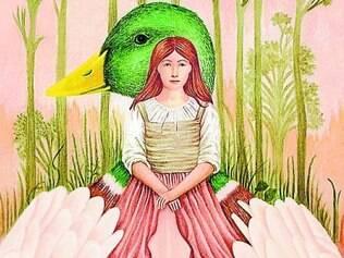 """Ilustração da capa do livro """"Patos Selvagens"""", de Menina"""