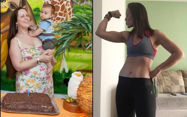 Antes e depois de Ana Agostini, usuária do app de exercícios Freeletics