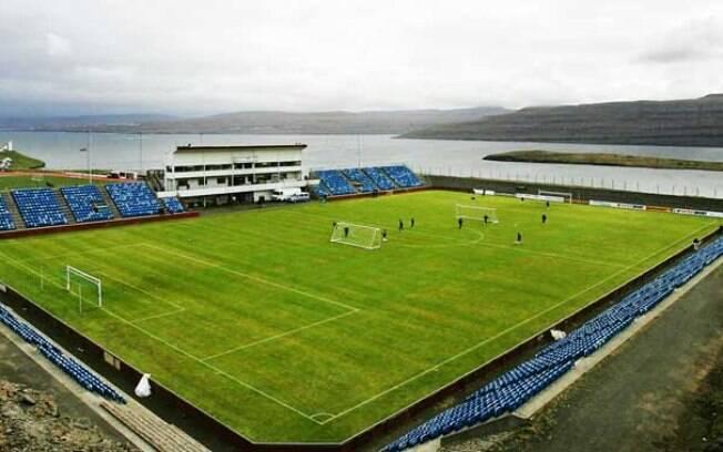 Estádio de Svangaskard, em Ilhas Faroe