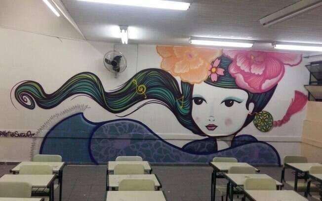 Guarulhos:  paredes de todas as classes ganharam grafites assinados por artistas conhecidos aqui e fora do Brasil