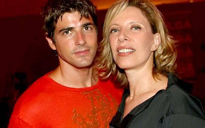 Reynaldo Gianecchini e Marília Gabriela: o ator e a jornalista ficaram anos juntos