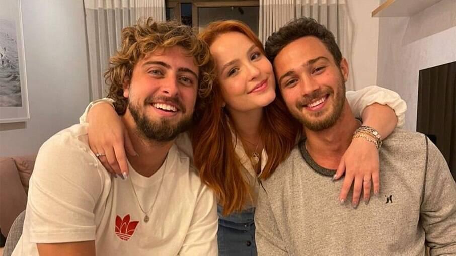 Larissa Manoela, André Luiz Frambach e Eike Duarte em encontro recente