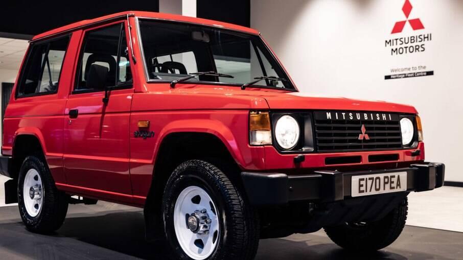 Entre as raridades da Mitsubishi que serão leiloadas, está a primeira geração do Pajero de três portas, de 1987