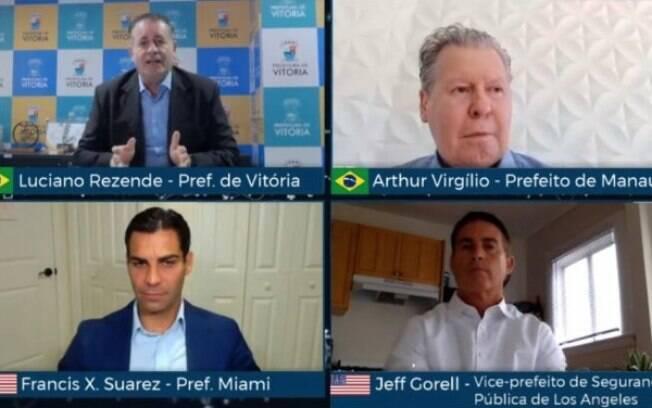 Em live, prefeitos do Brasil e dos Estados Unidos analisam medidas de enfrentamento à pandemia
