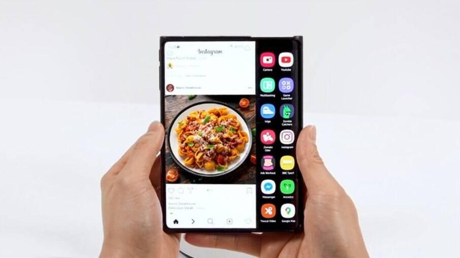 Tela enrolável da Samsung