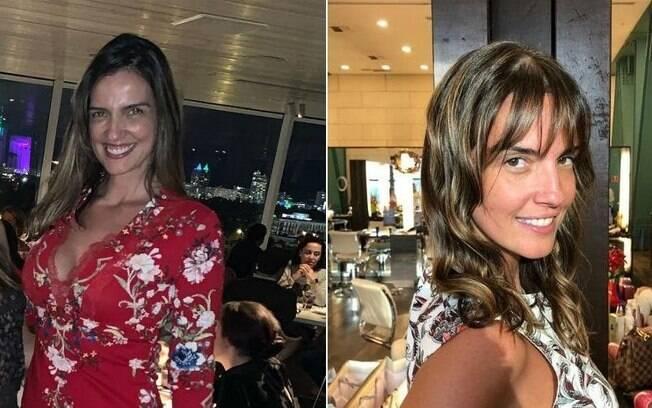 Antes e depois do novo visual de Luciana Cardoso, mulher de Faustão