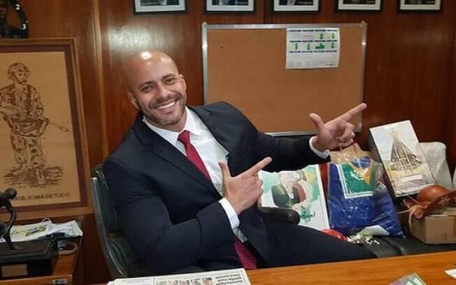 O deputado Daniel Silveira (PSL-RJ) é um dos alvos da investigação da Polícia Federal.