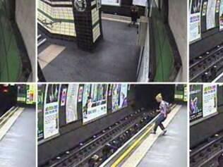 Câmeras de segurança flagram momentos de pânico com queda de carrinho de bebê nos trilhos, em Londres