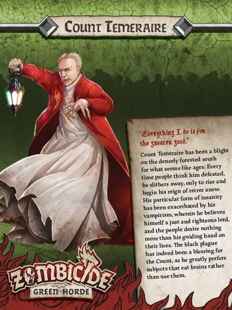 Em cartaz de divulgação, Conde Temeraire, personagem que lembra o presidente Michel Temer, usa capa vermelha e segura um lampião