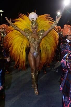 Sabrina Sato é um dos destaques da Gaviões da Fiel. Foto: Leo Franco / AgNews