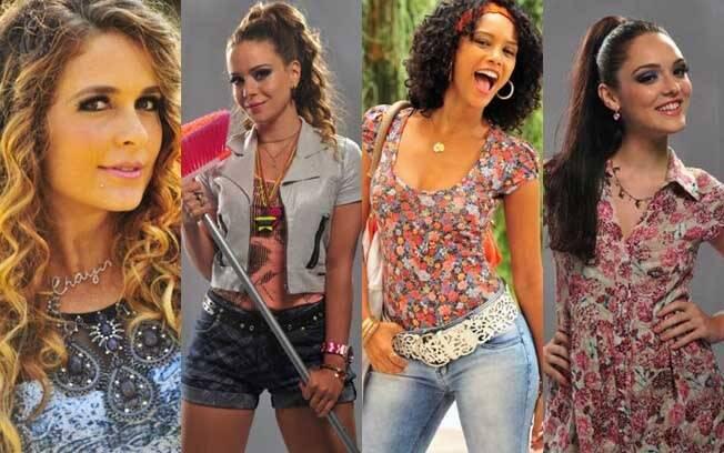 A vilã Chayene (Cláudia Abreu) e as três Marias: Rosário (Leandra Leal), Penha (Taís Araújo) e Cida (Isabelle Drummond)