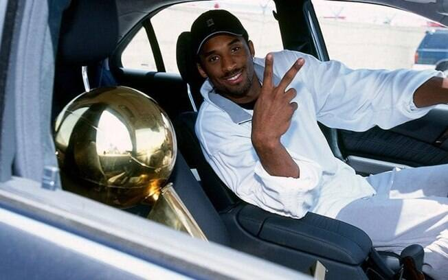 Kobe Bryant, após um de seus títulos pelo Los Angeles Lakers