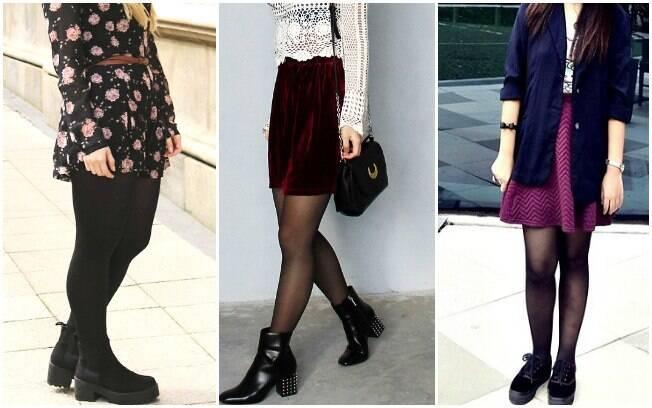 Meia-calça: preta