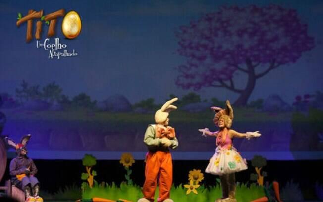 Tito, um coelho atrapalhado é mais uma das atrações da Páscoa em Gramado neste ano