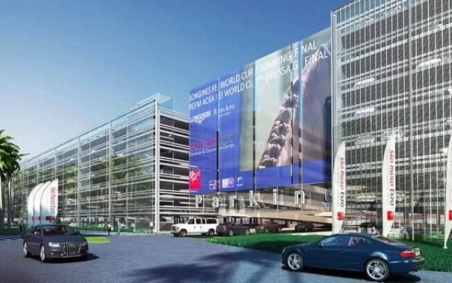 Projeção da fachada do São Paulo Expo, onde será o Salão do Automóvel, entre 10 e 20 de novembro