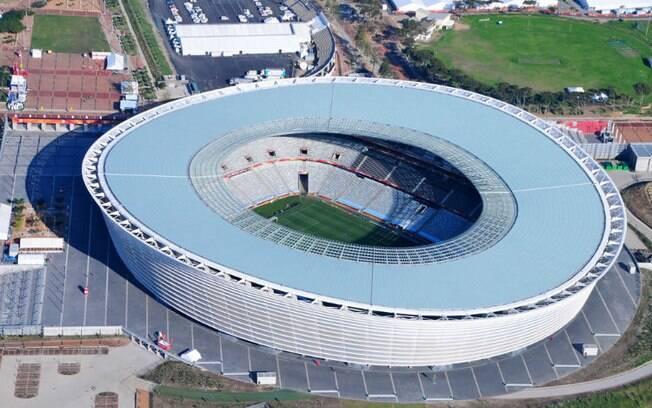 O Cape Town Stadium é uma das estruturas arquitetônicas mais impressionantes da África do Sul