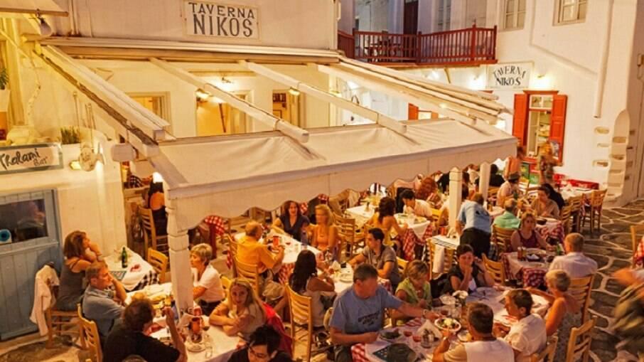 Niko's Tavern é um dos restaurantes destaque da ilha