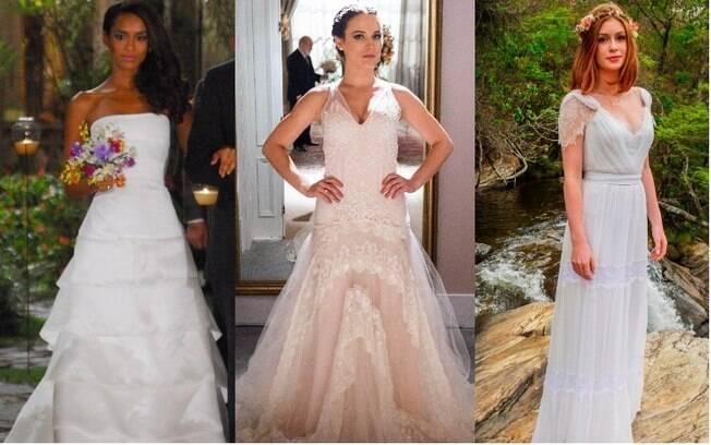 Os vestidos de noiva das novelas podem servir de inspiração para quem está pensando no visual da cerimônia de casamento