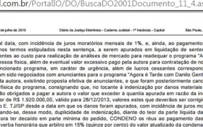 Justiça condena Danilo Gentili a pagar multa milionária à Band