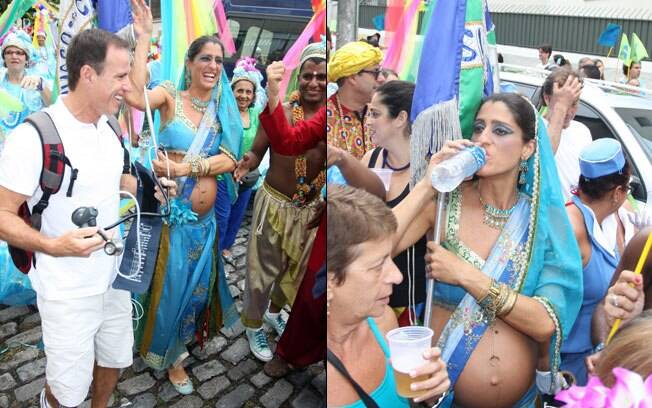 Cynthia Howlett: muita água para enfrentar a folia com a gravidez