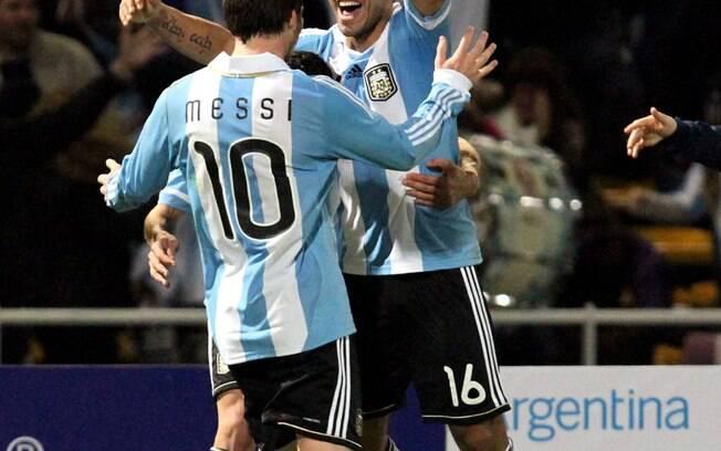 Messi e Aguero juntos na seleção