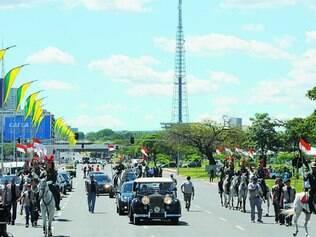 Ritual. Ontem, todos os passos programados para a posse da presidente reeleita, Dilma Rousseff, foram ensaiados na Esplanada