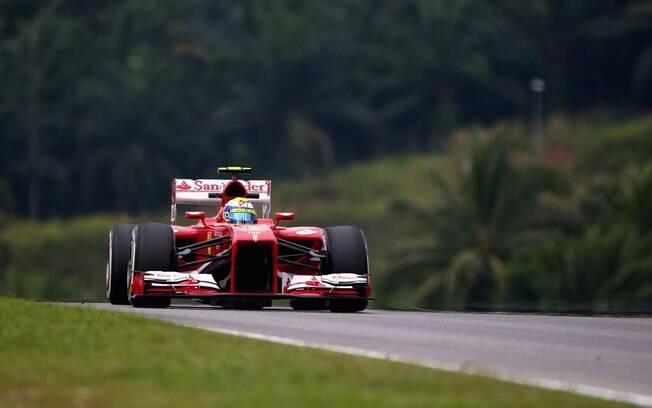 Felipe Massa: segundo mais rápido na Malásia,  brasileiro não largava na primeira fila desde  março de 2010