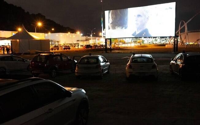 Cinema drive-in na Praia Grande