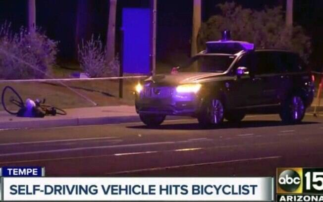Jornal americano relatou o acidente do Uber, que vitimou uma mulher que levava a sua bicicleta