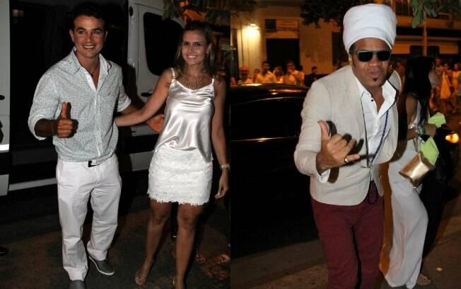 Anderson Di Rizzi, a mulher do ator, Taíse Galante, e Carlinhos Browns também compareceram