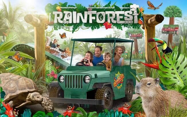 imagem promocional da atração rainforest