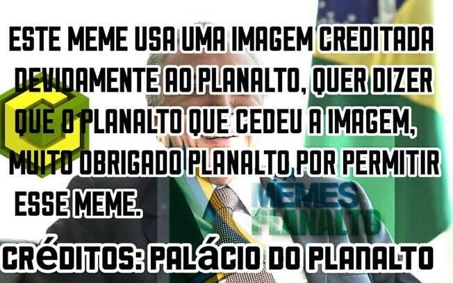 Página Capinaremos fez troça com pedido do governo para creditar imagens oficiais do Planalto