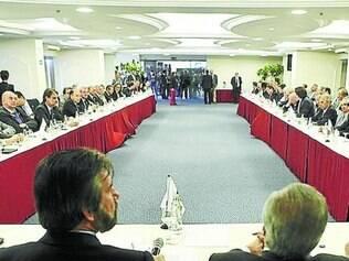 Encontro. Executiva Nacional do PMDB se reuniu com representantes de MG e SP ontem em Brasília