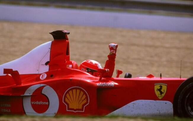 Schumacher dominou completamente a categoria entre 2000 e 2004, com a Ferrari. Foto: Getty Images