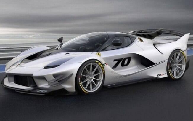 Ferrari para uso exclusivo em pistas de corrida, que reúne todo o potencial tecnológico de alto desempenho