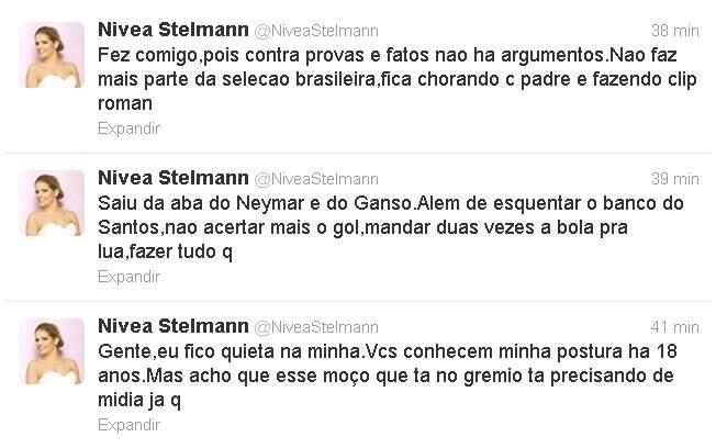 Nívea Stelmann solta o verbo contra o ex no Twitter