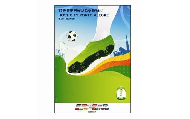 Porto Alegre-RS - Pôster oficial da Copa do  Mundo de 2014