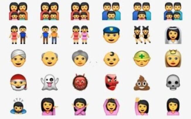 Emojis da nova geração mostram famílias com dois pais e duas mães