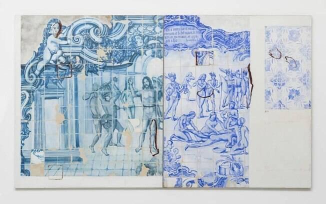 Proposta para uma Catequese – Parte I – Díptico Morte e Esquartejamento (1993), de Adriana Varejão