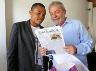 Enderson Araújo apresentou o blog ao ex-presidente Lula no ano passado